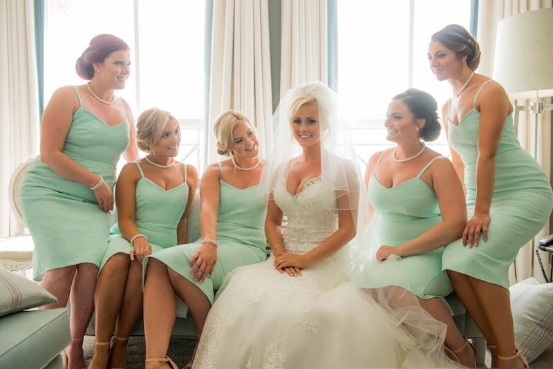 Image of Bride and her bridesmaids